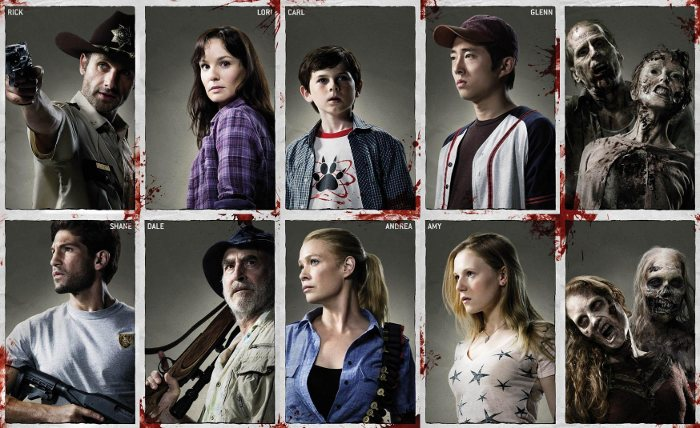 La team Walking Dead